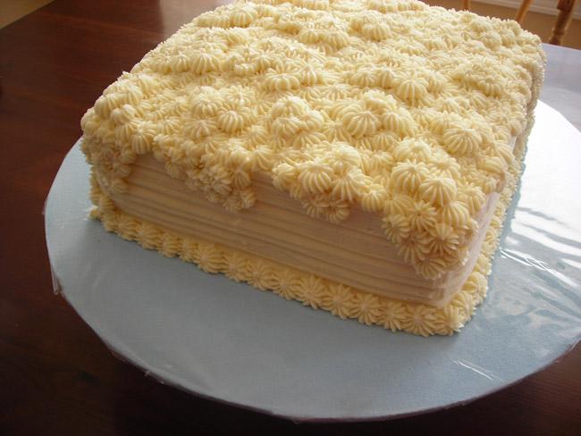 sea urchin cake/blue cakeboard