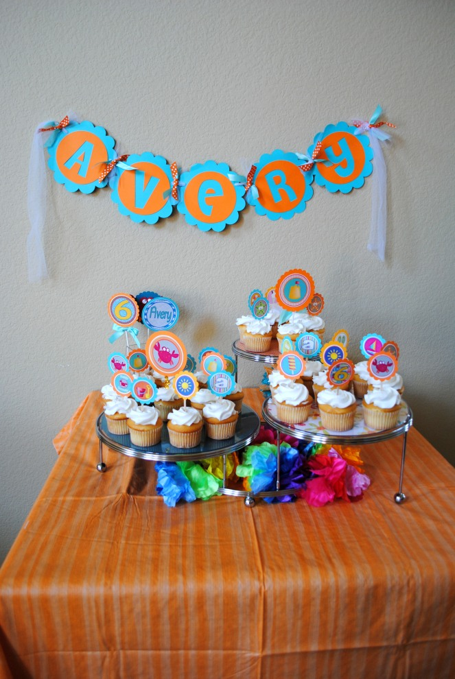 beach themed birthday party